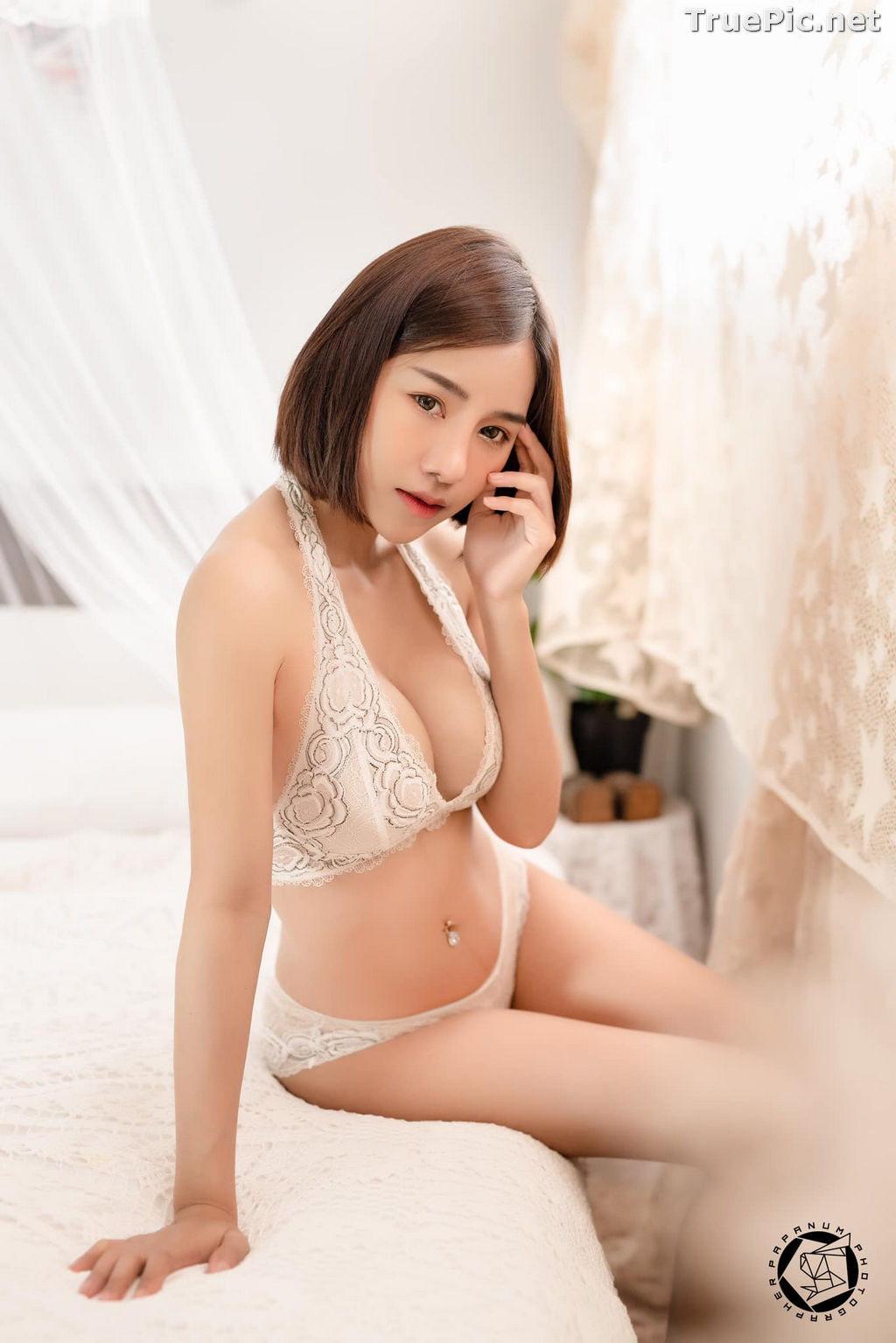 Image Thailand Model - Papoy Kuanpradit - Sexy White Lingerie - TruePic.net - Picture-7