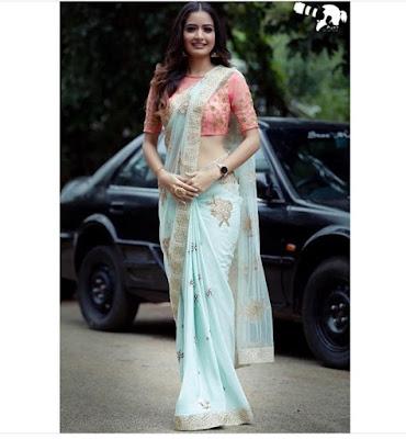 Ashika ranganath cute in saree