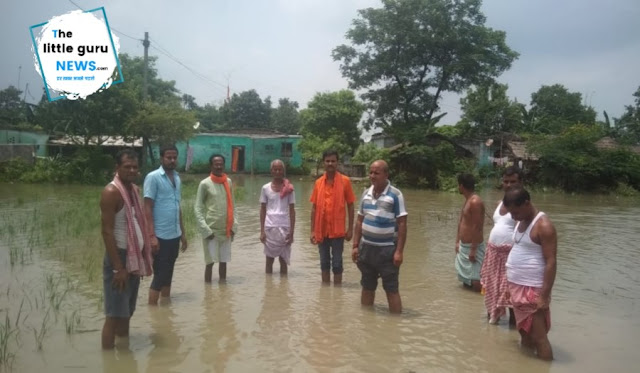 Bjp leaders visit flood affected area