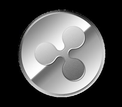 仮想通貨リップル(Ripple)のフリー素材(銀貨ver)