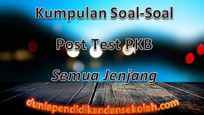 Unduh Kumpulan Soal Post Test PKB Jenjang SD, SMP, SMA Tahun 2017-2018