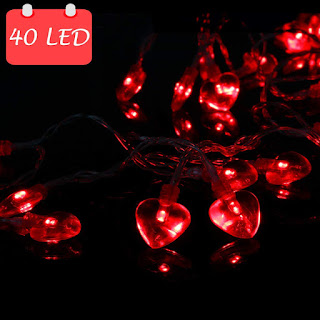 14.5ft 40LED Valentines Day Decorations String Lights