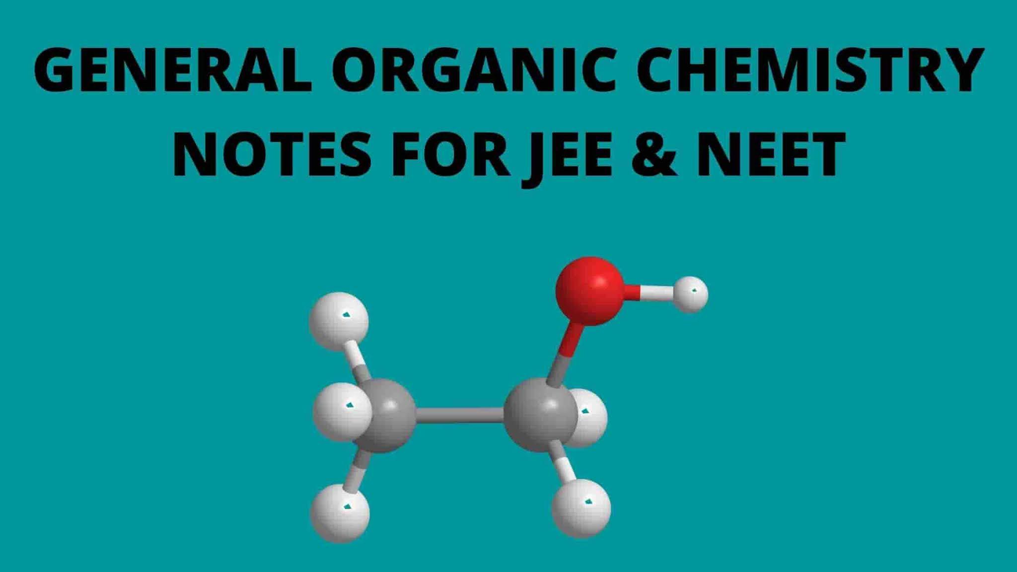 [PDF] General Organic Chemistry (GOC) Notes For IIT JEE & NEET