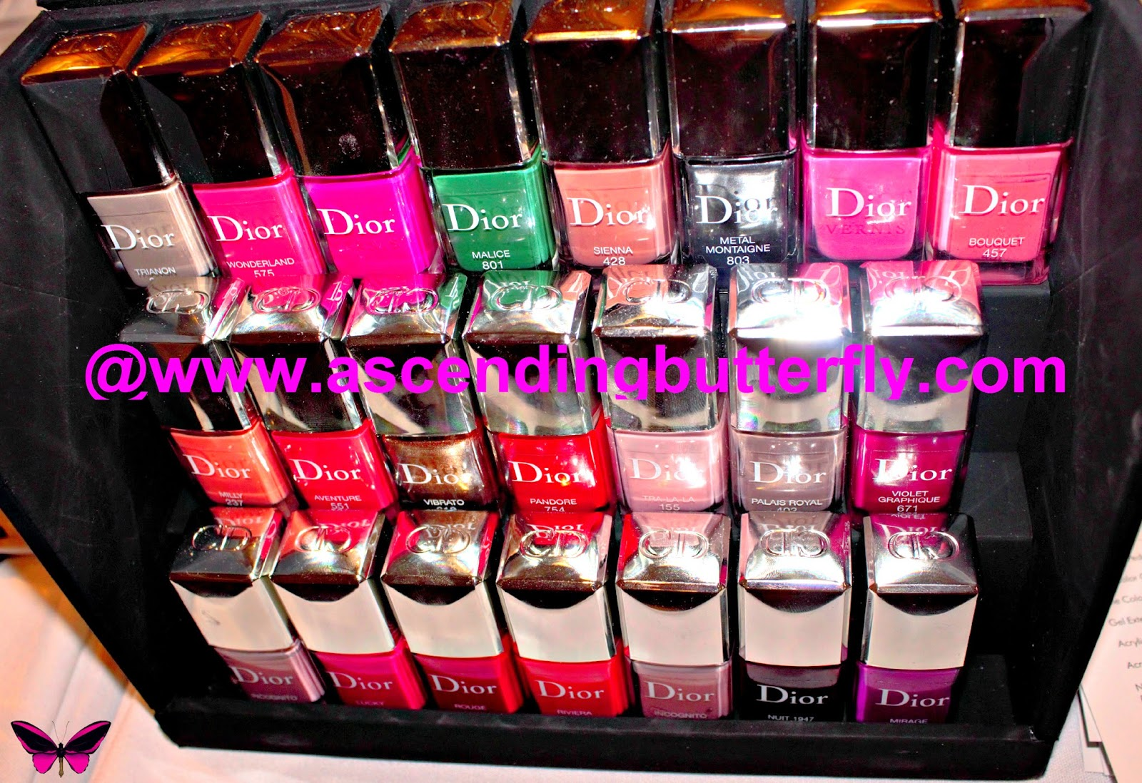 Christian Dior Nail Polish on display at Getting Gorgeous 2014