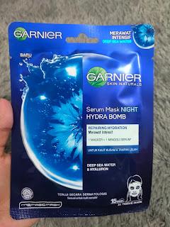 Review Garnier Serum Mask Night Hydra Bomb