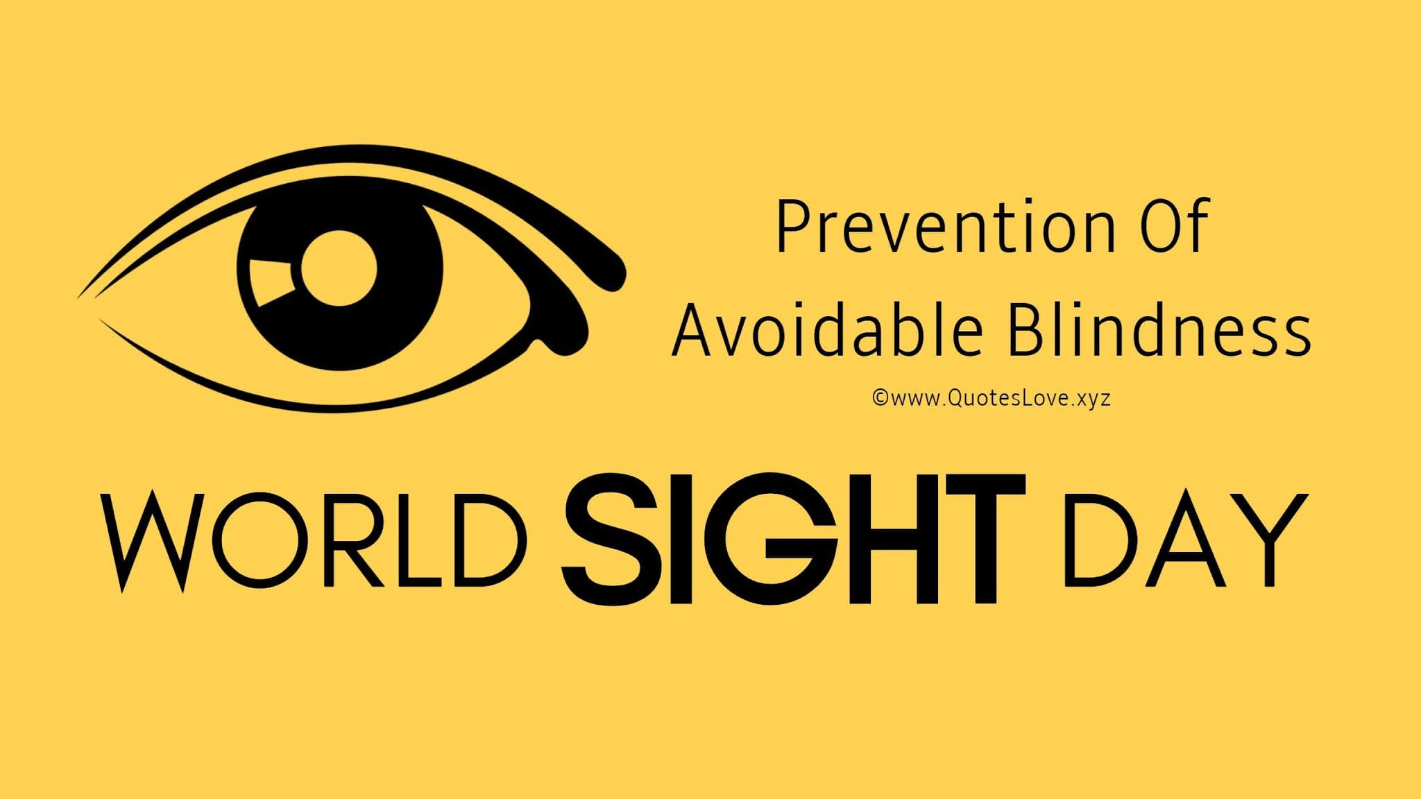 World Sight Day Quotes, Wishes, Images, Poster, Pictures