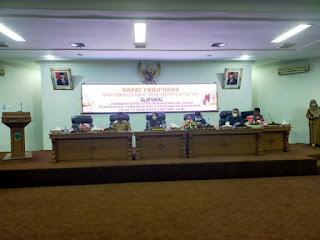 Ketua DPRD Pimpin Rapat Paripurna Dalam Rangka Jawaban DPRD Ranperda Covid-19