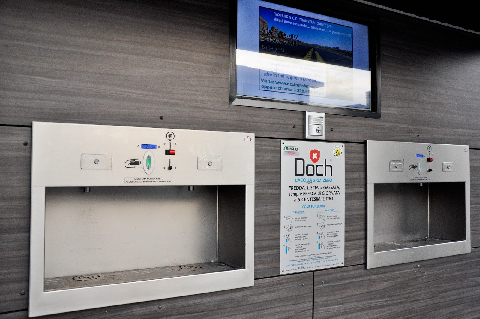 Water dispenser, Vicenza, Veneto, Italy