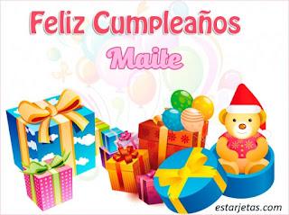 Feliz Cumpleaños Maite