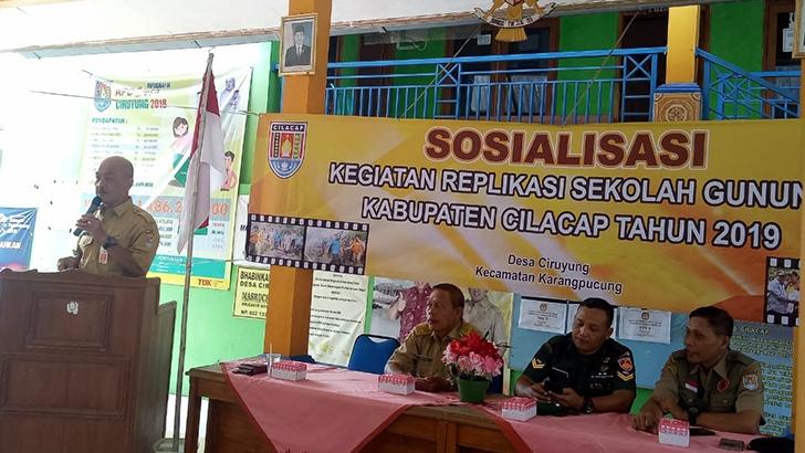 Sertu Ali Muchtar Hadiri Sosialisasi Replikasi Gunung Desa Yang Digelar BPBD Kabupaten Cilacap