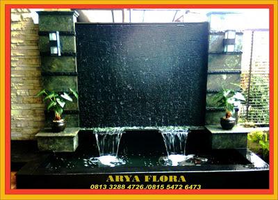 tukang taman surabaya: galery kolam minimalist waterfall