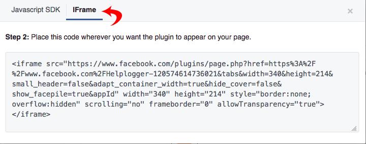 facebook iframe code