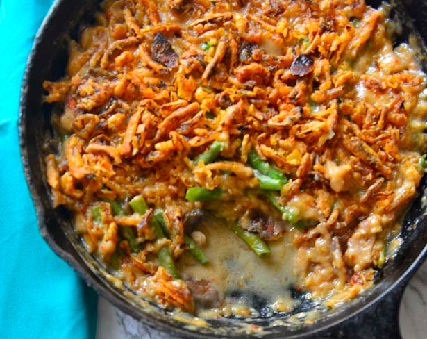 Green Bean Casserole From  Scratch #dinner #casserole #mushroom #easy #food