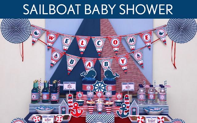 Sailor Baby Shower ideas