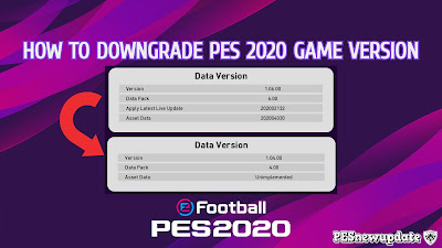 How to Downgrade PES 2020 Game Version
