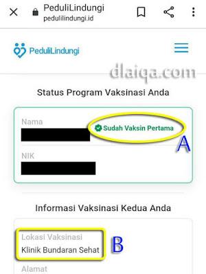 status vaksinasi Covid-19
