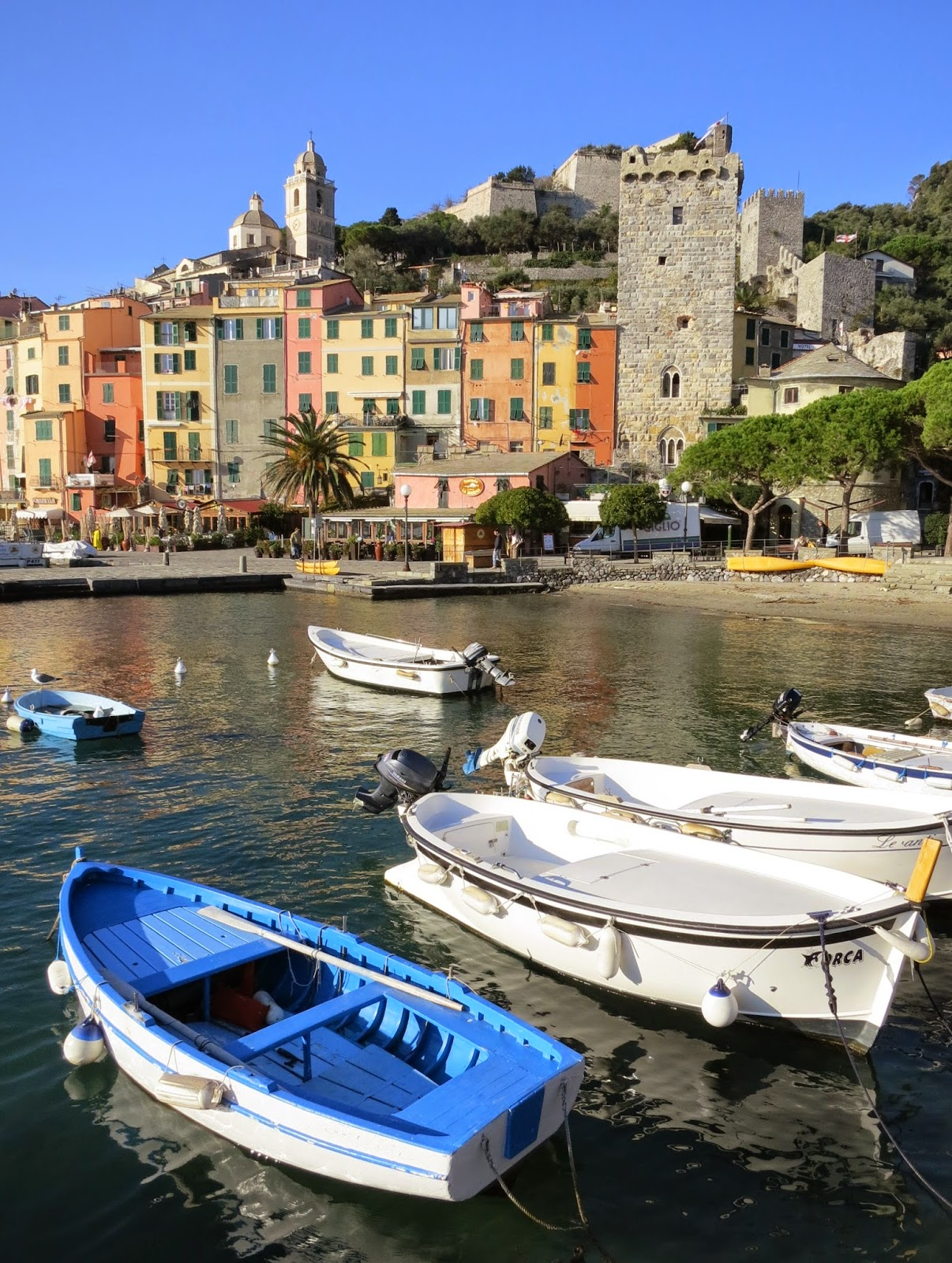 Portovenere on the Gulf of La Spezia, Liguria.
