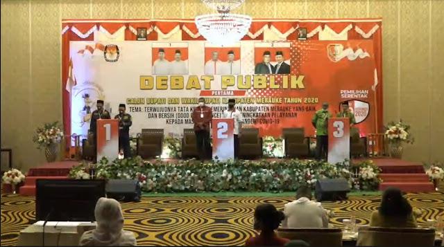 Debat Terbuka 3 Pasangan Calon Kepala Daerah Merauke Tentang Pemerintahan.lelemuku.com.jpg