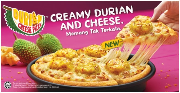 Pizza Hut Malaysia Introduced Durian Cheese Pizza