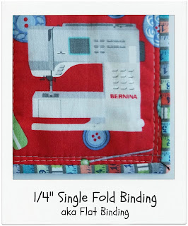 Quarter Inch Single Fold Binding by www.madebyChrissieD.com