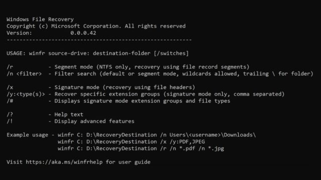 Windows file recovery app