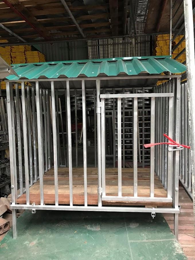 Nhận làm chuồng chó sắt inox không rỉ theo yêu cầu tại hà nội giá rẻ cho các loại chó mèo to nhỏ