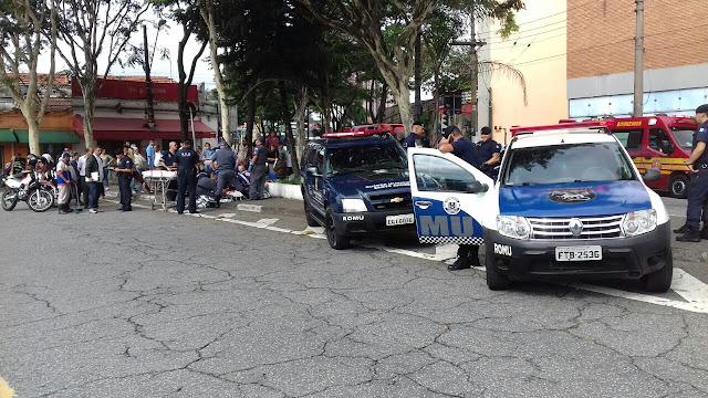 ROMU de Santo André com apoio da ROMU de Mauá detém mulher por tentativa de homicídio contra morador de rua