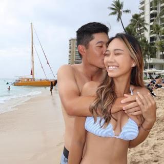 Collin Morikawa With His Girlfriend Katherine Zhu