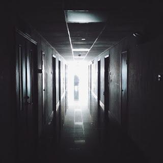 spooky hospital corridor
