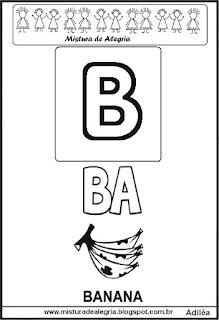 Cartaz das famílias silábicas B