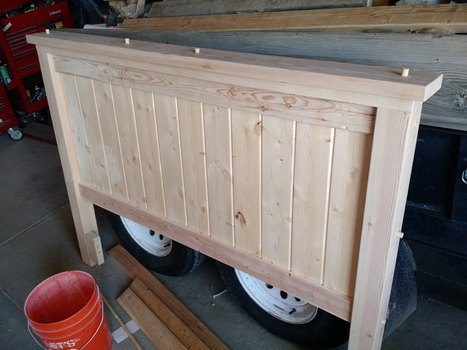 Farmhouse Style Queen Headboard The Project Lady
