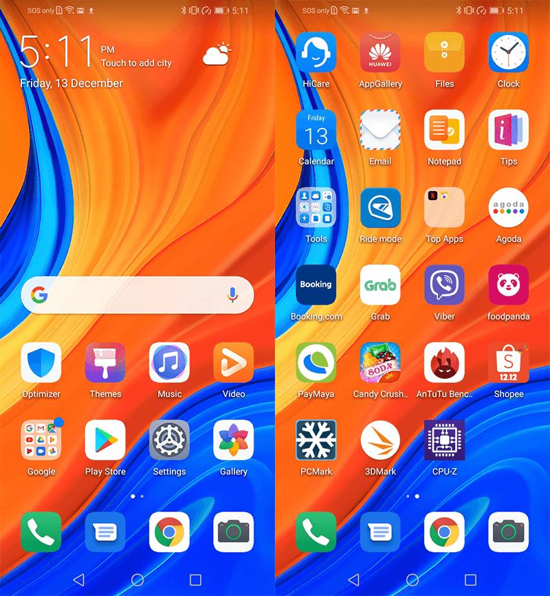 Huawei Y6s' EMUI 9.1