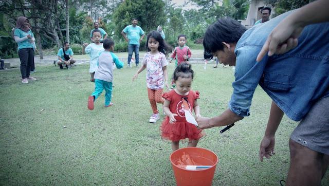 Games anak anak Family Gathering Qwords di Sambi Resort Yogyakarta