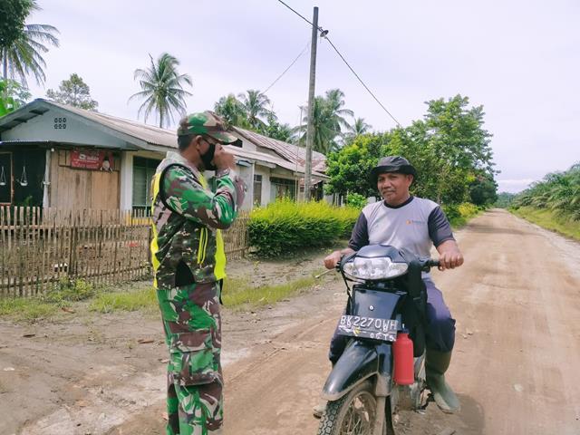 Disiplin Protokol Kesehatan Diwilayah Binaan Dilakukan Personel Jajaran Kodim 0207/Simalungun