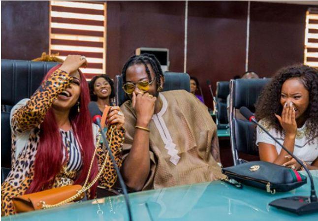 governor okocha with nina, miracle, teddy a and bambam
