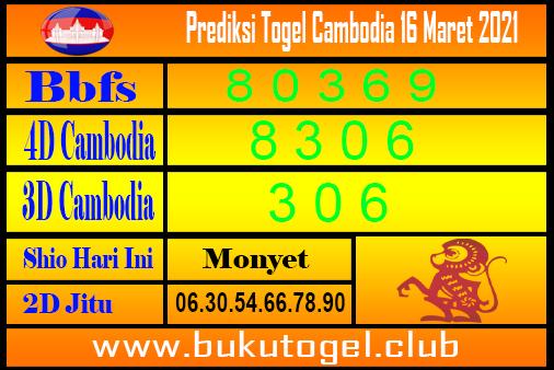 Prediksi Cambodia 16 Maret 2021