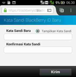 Lupa Password BBM di Android
