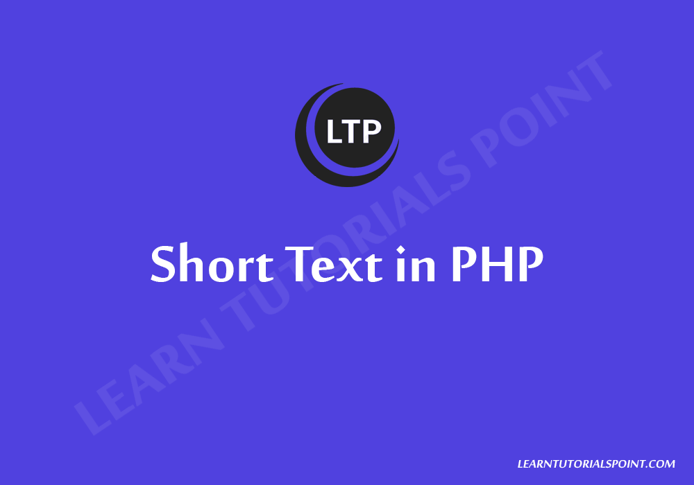 Short Text in PHP