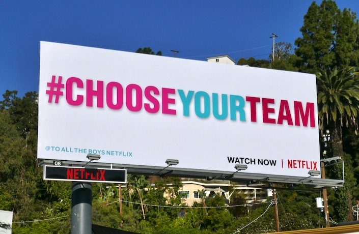 Choose Your Team To All The Boys 2 billboard