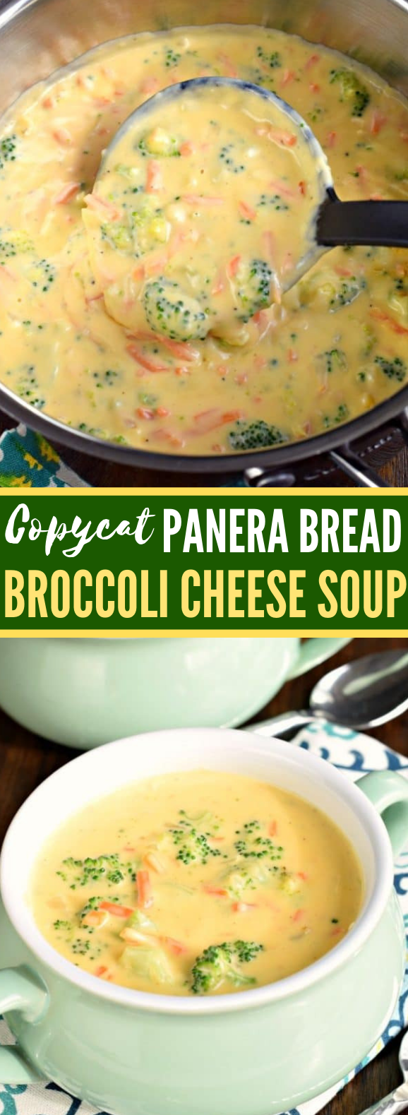 Copycat Panera Broccoli Cheese Soup Recipe #dinner #meals