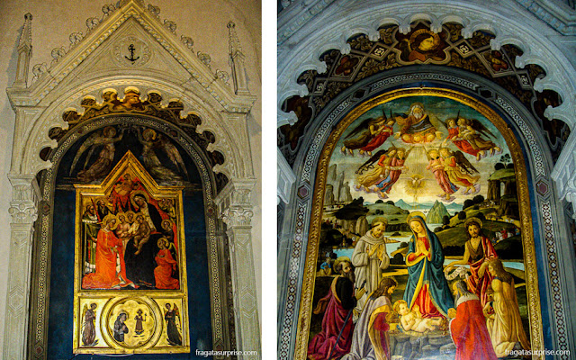 Altares da Igreja de São Francisco, em Fiésole