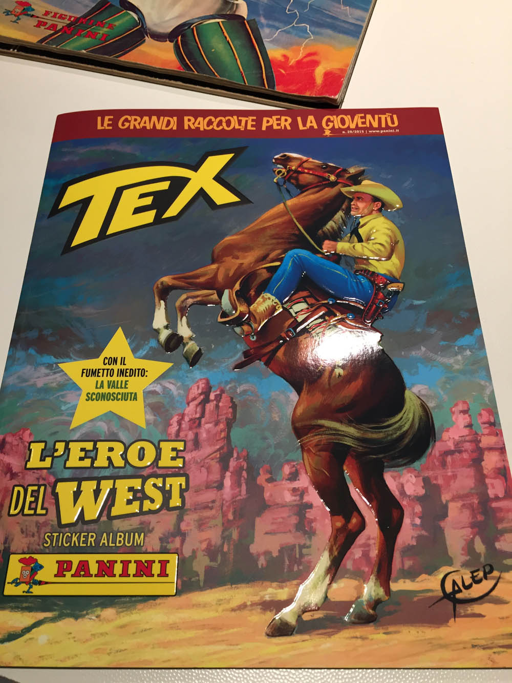 Figurine-stickers n Panini 2015 44 -New TEX L/'EROE DEL WEST