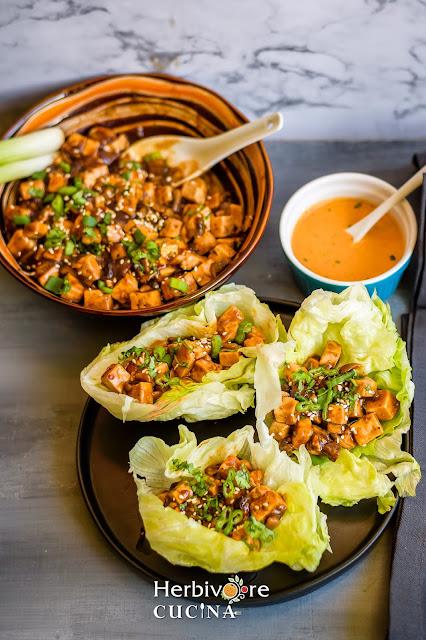 Vegan Tofu Lettuce Wraps
