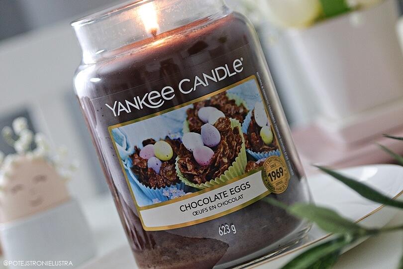 świeca zapachowa yankee candle chocolate eggs etykieta