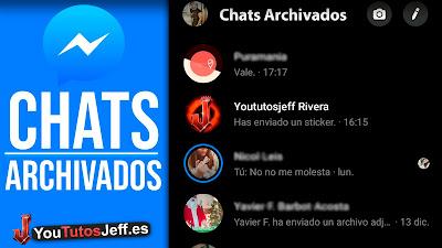 ver chats archivados messenger facebook