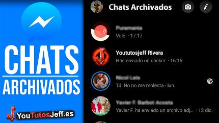 Archivar y Ver Mensajes Archivados Messenger Facebook