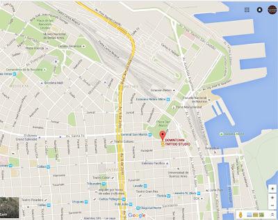 Mapa - Downtown Tattoo Studio