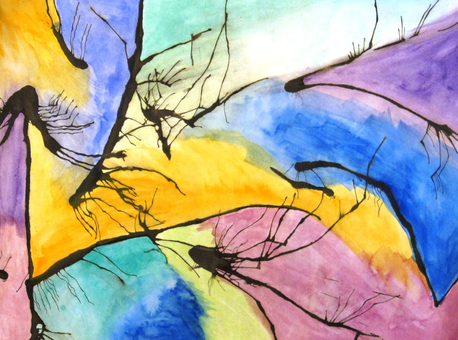 The Creative Spirit Abstract Watercolor Painting Lesson