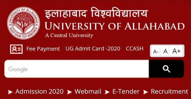 Allahabad University BA exam  2020