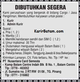 Lowongan Kerja PT. Nusantara Card Semesta